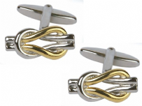 Dalaco 90-9017 Two Tone Love Knot Cufflinks